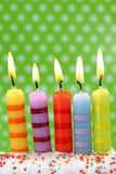 Cinco velas do aniversário Imagem de Stock Royalty Free