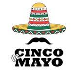 Cincode Mayo banner met traditionele Mexicaanse hoed