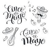 Cincode Mayo uitdrukkingen royalty-vrije illustratie