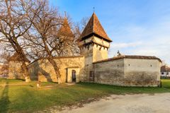 Cincsor medeltida kyrka royaltyfria bilder