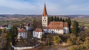 Cincu średniowieczny kościół zdjęcia royalty free