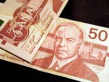 Cincuenta billetes de banco del dólar (canadienses) Fotos de archivo libres de regalías