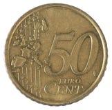 Cincuenta centavos euro Imágenes de archivo libres de regalías