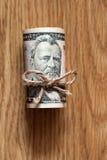 Cincuenta cuentas de dólar Foto de archivo