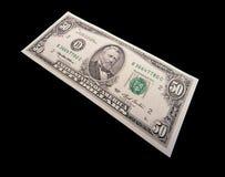 Cincuenta dólares Bill imagen de archivo