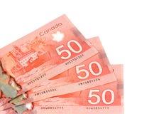 Cincuenta dólares canadienses Imagen de archivo libre de regalías