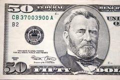 Cincuenta dólares, Grant Imagenes de archivo