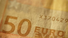 50 cincuenta euro - fondo - ascendente cercano Foto de archivo