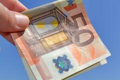Cincuenta euros Fotos de archivo libres de regalías