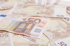 Cincuenta euros Imagen de archivo libre de regalías