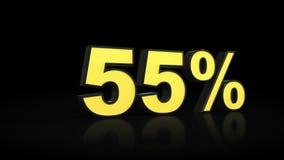 Cincuenta y cinco representaciones del por ciento 3D del 55% Imagen de archivo