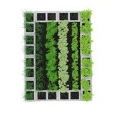 Cinder Block Garden auf einem Weiß Abbildung 3D Lizenzfreies Stockbild