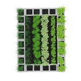 Cinder Block Garden en un blanco ilustración 3D Imagen de archivo libre de regalías