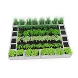 Cinder Block Garden en un blanco ilustración 3D Foto de archivo libre de regalías
