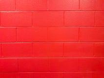 Cinder Block Wall Background roja Foto de archivo libre de regalías