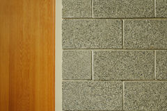 Cinder Block Wall and Door Stock Image
