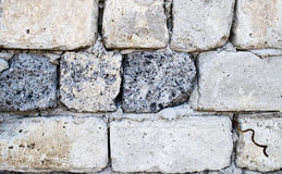 Cinder block wall Royalty Free Stock Images