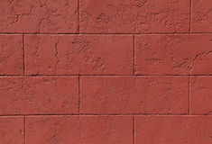 Cinder Block Wall rossa Immagine Stock