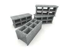 Cinder-blocks Stock Photo