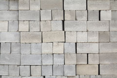 Cinder blocks stacked rows Stock Photo