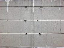 Cinder Brick Wall royalty-vrije stock afbeelding