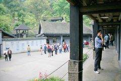 Cinder Cave in Chongqing stock fotografie