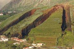 Cinder cone at El Palmar, Tenerife, Canary Islands. Royalty Free Stock Image