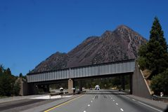 Cinder cone freeway stock photo