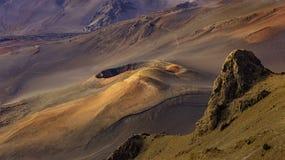 Cinder Cone in Haleakala-Krater in het Nationale Park Maui Hawaï de V.S. van Haleakala royalty-vrije stock fotografie