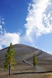 Cinder Cone in Lassen Vulkanische NP stock afbeelding