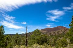 Sunset Crater National Monument, near Flagstaff, Arizona,  protects this extinct volcano and the lava beds surrounding it Stock Photos