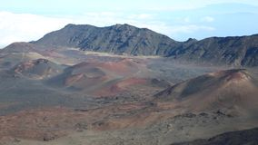Cinder cones in Haleakala NP stock video footage