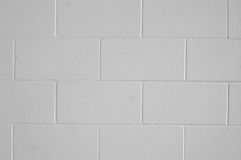 A cinderblock wall. Grey and white Royalty Free Stock Images