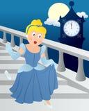 Cinderella alla mezzanotte Fotografia Stock
