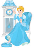 Cinderella alla mezzanotte Fotografia Stock Libera da Diritti