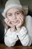 Cinderella before a ball. Portrait of girl in the coif. Cinderella before a ball Royalty Free Stock Photography