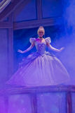 Cinderella in Ball Gown. GREEN BAY, WI - FEBRUARY 10: Cinderella in her pretty ball gown dress at the Disney Princesses show at the Resch Center on February 10 Royalty Free Stock Photo