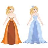 Cinderella. Beautiful Cute Blonde Princess Cinderella Royalty Free Stock Images