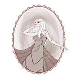 Cinderella. Blond woman in a oval frame Stock Photo