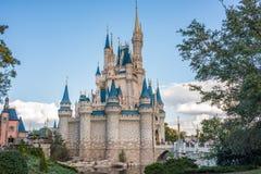 Cinderella Castle al regno magico, Walt Disney World immagine stock libera da diritti