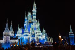 Cinderella Castle bij het Magische Koninkrijk, Walt Disney World royalty-vrije stock foto