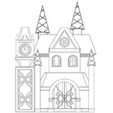 Cinderella Castle Coloring Book Page Photos stock