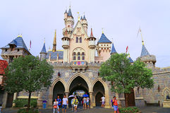 Cinderella castle at disneyland hong kong Stock Photos