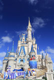 Cinderella Castle and fireworks, Magic Kingdom, Disney Stock Photo