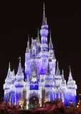 Cinderella Castle illuminated at night, Magic Kingdom, Disney Stock Photography