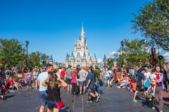 Cinderella Castle at The Magic Kingdom, Walt Disney World. Orlando, Florida: December 2, 2017: Cinderella Castle at The Magic Kingdom, Walt Disney World.  In Stock Images