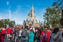 Cinderella Castle at the Magic Kingdom, Walt Disney World. Orlando, Florida: December 2, 2017: Cinderella Castle at The Magic Kingdom, Walt Disney World. In 2016 Royalty Free Stock Photo