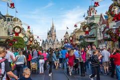 Cinderella Castle at the Magic Kingdom, Walt Disney World. Orlando, Florida: December 2, 2017: Cinderella Castle at The Magic Kingdom, Walt Disney World. In 2016 Stock Image