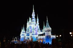 Cinderella Castle at The Magic Kingdom, Walt Disney World. stock photos