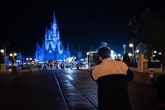 Cinderella Castle at The Magic Kingdom, Walt Disney World. Orlando, Florida: December 2, 2017: Cinderella Castle at The Magic Kingdom, Walt Disney World. In Royalty Free Stock Photography